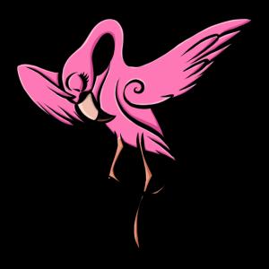 Pink Flamingo Dabbing