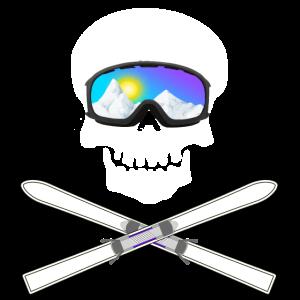Schädel mit Skibrille