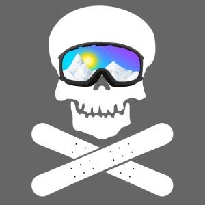 Schädel mit Skibrille (Snowboard Edition)