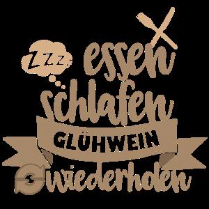 essen schlafen Gluehwein wiederholen