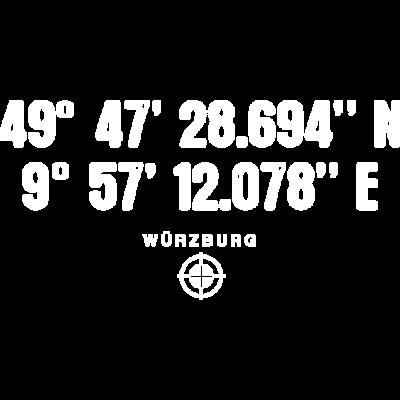 Würzburg Geocacher Globetrotter Geschenk - Würzburg Geocacher Globetrotter Geschenk - würzburg,weltenbummler,urlauber,urlaub,segler,schrift,reisen,reise,position,outdoor,navigation,navi,motiv,längengrad,logo,koordinaten,globetrotter,geschenk,geocacher,ferien,design,breitengrad