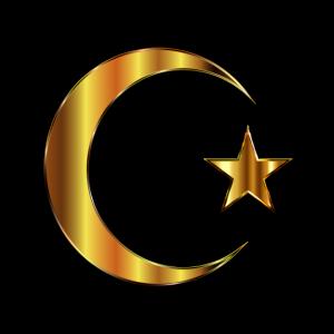 Türkei Flagge in Gold Sehr Edel