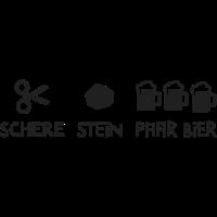 Schere / Stein / paar Bier