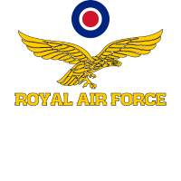 Royal Air Force Roundel und Adler Gold