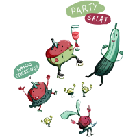 Partysalat in Farbe
