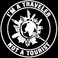 Ich bin ein Reisender, kein Tourist - Travel Tee