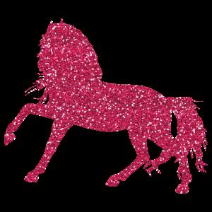 Pink Glitter Horse - Glitzerndes Pferd Pink Pferde