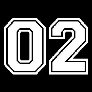 02 - College-Style Sportswear und Zahlen Motiv