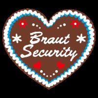 "Lebkuchenherz ""Braut Security"" JGA"