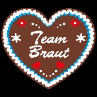 "Lebkuchenherz ""Team Braut"""