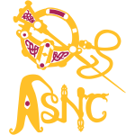 Brooch logo two tone
