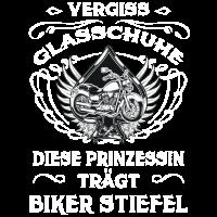 Vergiss Glasschuhe- Prinzessin trägt Biker Stiefel