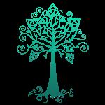 arbre phare dégradé bleu