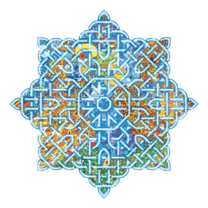 Keltische Blume in Form eines Mandalas