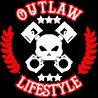 Outlaw Lifestyle - Biker Motorrad Rocker Freiheit