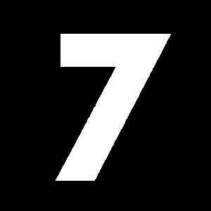 Zahl 7, Nummer 7, 7, seven, Number seven, Sieben,
