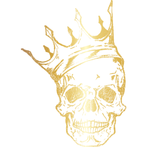 Totenkopf Krone ◊ Gold König ◊ Skull King Geschenk