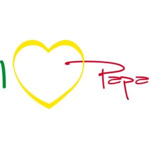 I love Papa Coeur 05 - Rasta - Vert Jaune Rouge