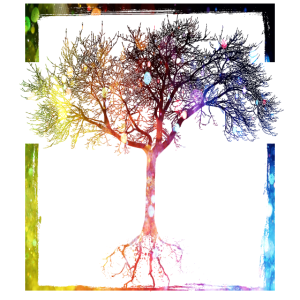 Mutter Natur - Rahmen Baum Wald Leben Wurzel Erde