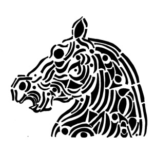 Horse - cheval tribal
