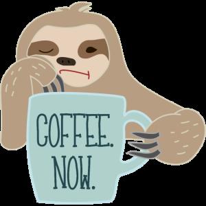 Faultier braucht Kaffee