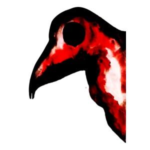Oiseau rouge de feu