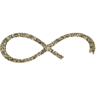Infinity forever love liegende 8 gold glitzer BFF