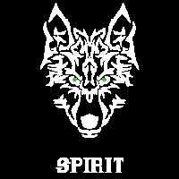 Kühler Wolf-Geist. Motivationsgeschenke für Freunde.