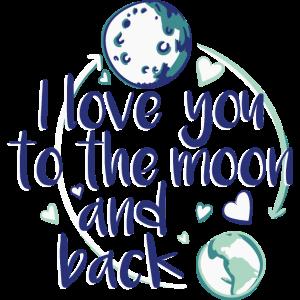 ich liebe dich bis zum Mond und zurück