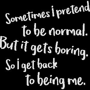 Normal sein