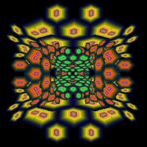 Hexagon psychedelic II