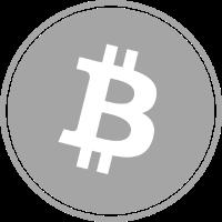 Bitcoin in Gray color.