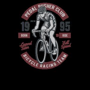Pedal Pusher Club. Bicycle Racing Team. 1995