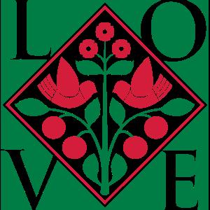 Lovebirds Art Nouveau