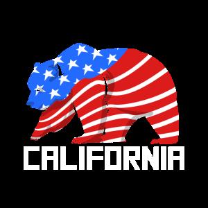 Grizzlybär Kalifornien Staatsflagge USA Land