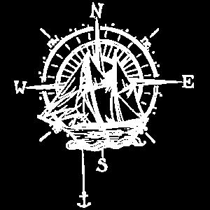 Schiff mit Kompass