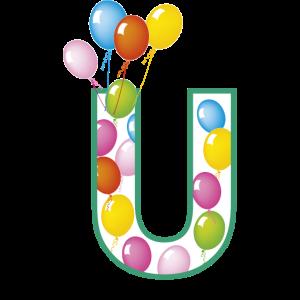 Buchstaben U Luftballons