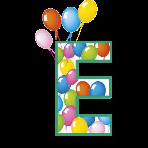 Buchstaben E Luftballons