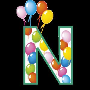 Buchstaben N Luftballons