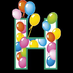 Buchstaben H Luftballons