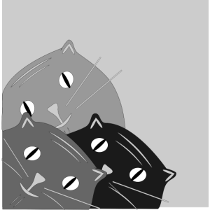Katze geneigten