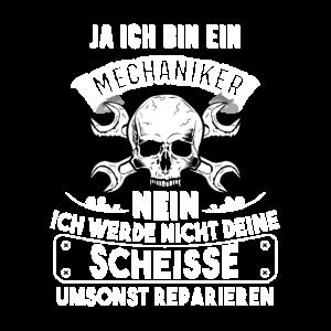 MECHANIKER TSHIRT TOTENKOPF FÜR MÄNNER Geschenk
