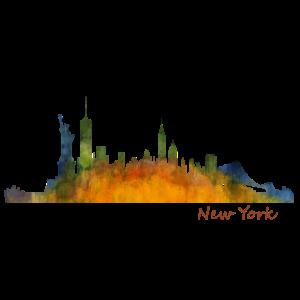NYC Skyline von New York Silhouette der Stadt NY
