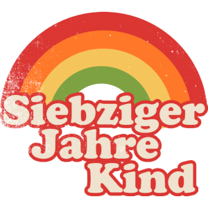 70er Kind Regenbogen