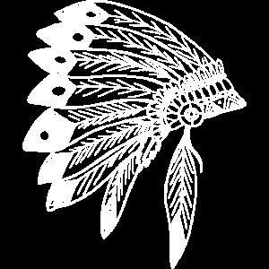Ursprung Ureinwohner Indianer Federn Style Geburts