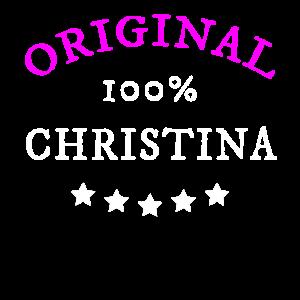 Original 100% Christina, Geschenk, Namen