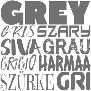 The colour grey in various international languages