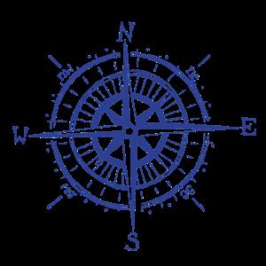 Kompass Blau