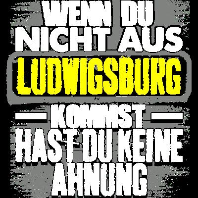 LUDWIGSBURG - Ahnung  -  Wenn du nicht aus  LUDWIGSBURG hast du keine  Ahnung  - verein,perfekt,heimatstadt,Zuhause,T-shirts,T-shirt,Städte,Stadtname,Stadt,Ruhrpott,Premium,Männer,Länder,Lustig,LUDWIGSBURG,Herren,Heimatort,Heimat,Fußball,Frauen