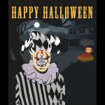 Happy Halloween Harlekin T-shirt tee shirt